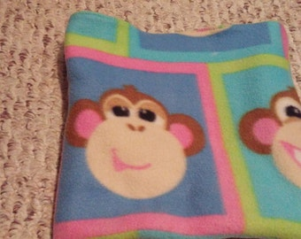 Small Animal Snuggle Sack-Reversible-Monkeys and Lime Green
