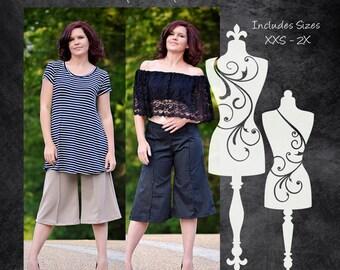 The Capsule Capris (Women's Sizes) PDF Sewing Pattern