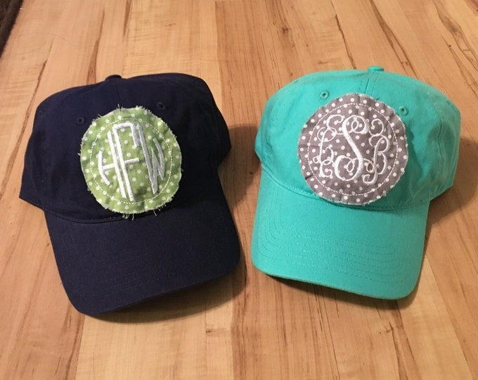 Monogrammed / Personalized Embroideree Fabric Patch Hat
