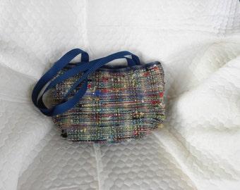 Hand woven bag, 14w x 9h x 6deep
