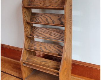 F3426 Oak Counter Top Display Stand