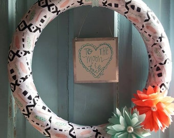 To the moon and back wreath