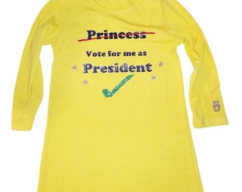 President, Not Princess Tunic Yellow Size 5