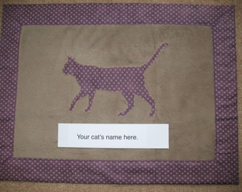 Bespoke Cat blanket - can be personalised with cats' name