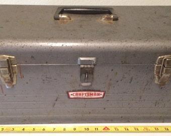 Craftsman tool box, vintage tool box, rustic tool box, carpenter tool box, industrial toolbox, rustic box, antique tools, vintage Crafsman