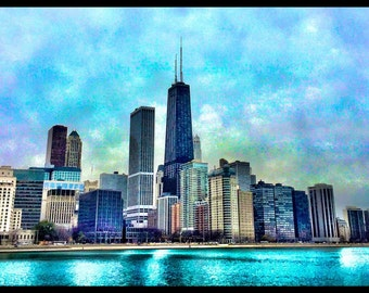 Lake Shore Drive looking in from the East, Chicago, IL.