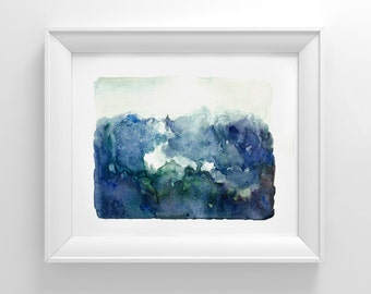 INSTANT DOWNLOAD abstract art/ Landscape Print/ Watercolor Landscape Painting, PRINTABLE Abstract Art abstract printable Landscape/ wall art