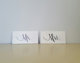 Mr. & Mrs. Wedding/Reception wood sign