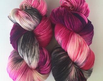 Hand Dyed Yarn | Superwash Merino Wool/Nylon Blend | Super Sock/Fingering Weight | 100 g. | Kiss My Ash | 4-ply