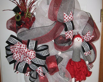 Hounds Tooth Wreath