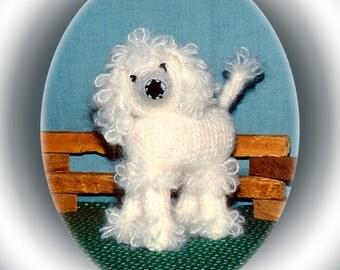 Puddles Poodle, Crochet Pattern, White