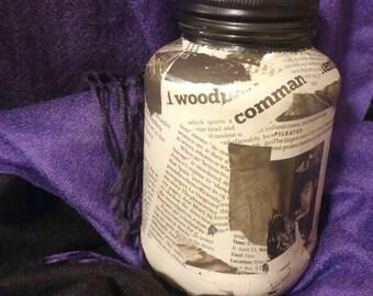 Decorated Jar: Newspaper Print