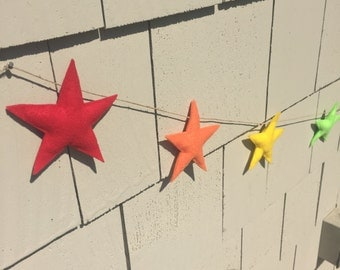 Plush Star Garland/Banner