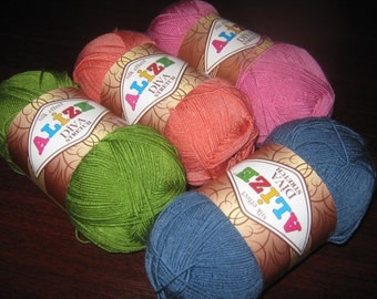Elastic yarn Alize Diva Stretch, acrylic yarn, bikini yarn, crochet yarn, knitting yarn, stretch yarn, summer yarn,