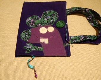 Fabric book cover, handles book cover,