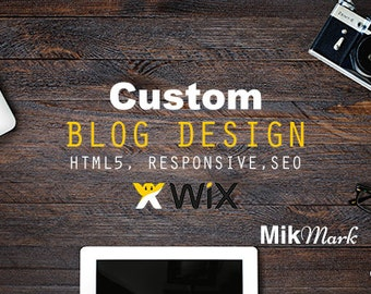 Wix Custom BLOG design | Wix Website | HTML5 SEO responsive website