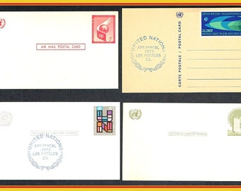 10 United Nations Postcards / Covers / Card