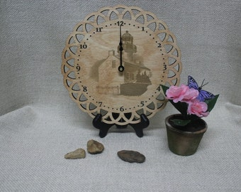 Laser Cut Wall Clock, Wood Clock