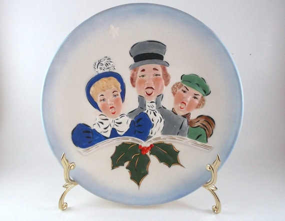 Vintage Collectible Plate Rare Mallory Ceramic Studio Jamar Hand Painted Plate Christmas Decoration Plate Home Decor Holiday Decoration