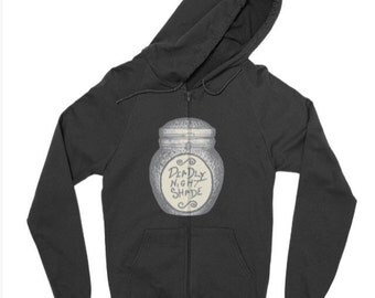 Deathly Nightshade zip up hoodie