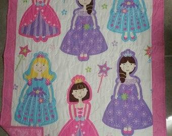 Princess quilt, Pink quilt, Girls quilt,