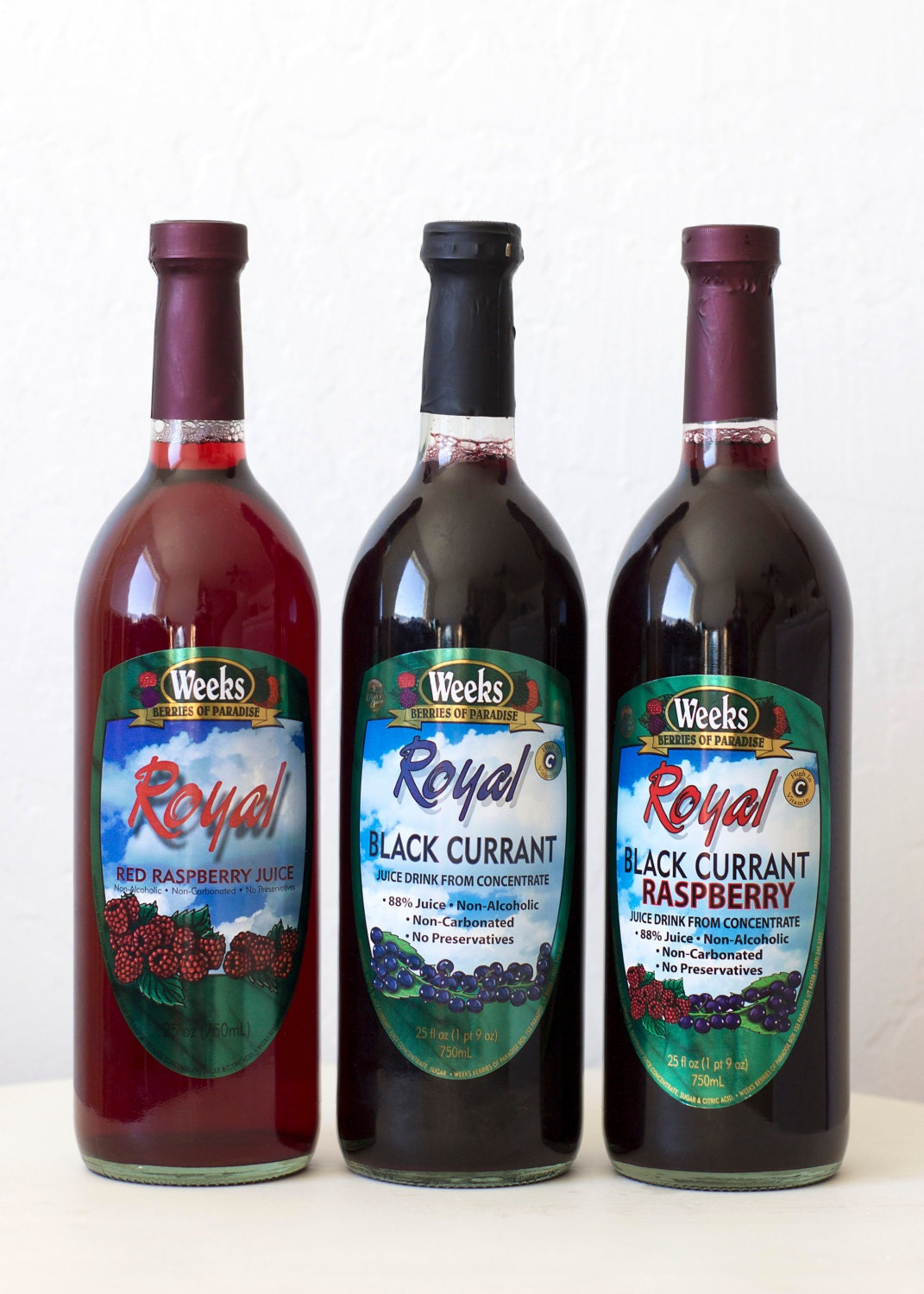 All Natural, Organic, No Preservatives, Royal Black Currant Juice, Non-Carbonated - Utah's Own