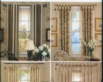 Window Pannel Waverly Butterick Pattern- Window Covering Pattern- Uncut Pattern -Sewing Pattern