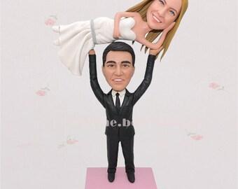 Custom made Cake Topper  Wedding Topper  Custom wedding cake topper  Unique cake topper  Mr.and Mrs.cake topper