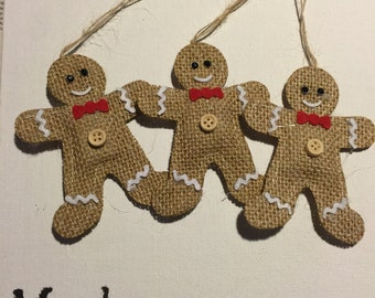 Christmas gingerbread style decorations