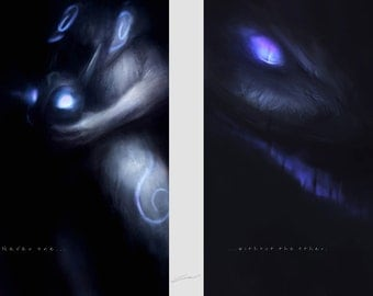 BUNDLE: Kindred Art Prints (League of Legends) // Gamer Gifts