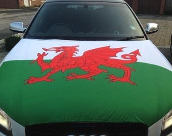 Wales Car Bonnet Flag