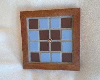 Handmade Mahogany Mosaic Coaster