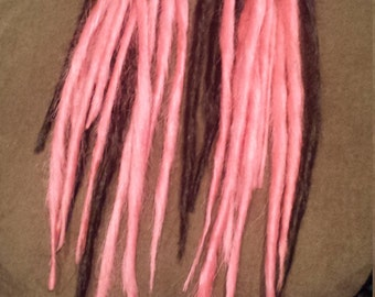 20 double ended synthetic dread in different colors