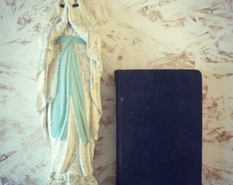Old religious book - book of piety girl - french book piety.