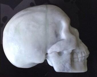 Natural Serpentine (New Jade) Skull