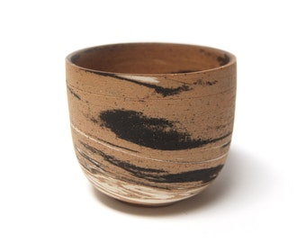 Marbled Planter (072) - Speckled Tan / White / Black