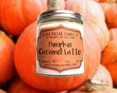 Pumpkin Caramel Latte 8oz Scented Candle | Fall scents, Winter Candle, Pumpkin Latte, Winter scent, Thanksgiving gift, Caramel Latte, Fall