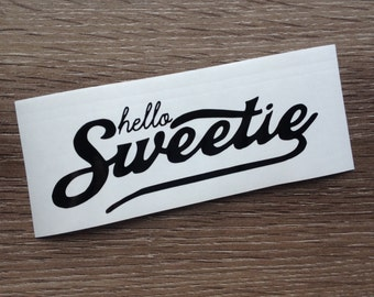 Doctor Who River Song Hello Sweetie Decal