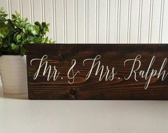 Personalized Rustic Wedding Name Sign