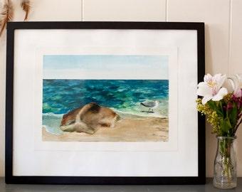 Seascape Original Watercolor