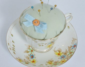 Vintage Teacup Pin Cushion