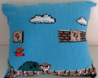 Super Mario Knitted Cushion