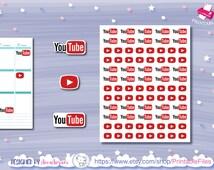Youtube Planner Printables Stickers*Printable Stickers*Vlog Plnning*Video Printable*Film Video Stickers*Erin Condren*The Happy Planner