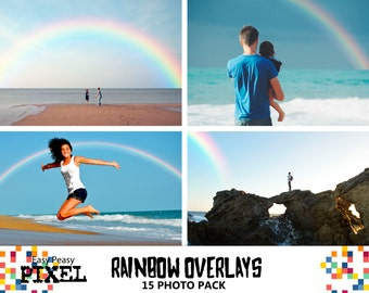 RAINBOW Photoshop Overlays, Rainbow Overlays, Photography Overlays, Photography, Photoshop Overlays