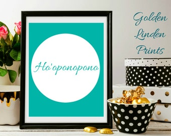 PRINTABLE, Ho'oponopono, Minimalist Art, Motivational Quote, Instant Download Art, Inspirational Quote, Home Decor, Dorm Decor, Forgiveness