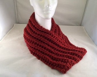 Cowl neck scarf rust colored #1008