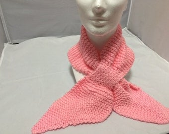 Neck warmer scarf in pink #1027