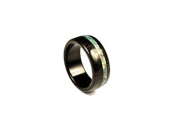 140 Wooden ring - Ebony Wood Ring - natural ring - organic ring - wood band - anniversary ring - wedding ring - wooden band
