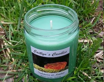 Oakmoss & Amber Candle   Oakmoss Candle   Amber Candle   Oakmoss Soy Candle   Amber Soy Candle   Green Candle   Soy Wax Candle   Handmade