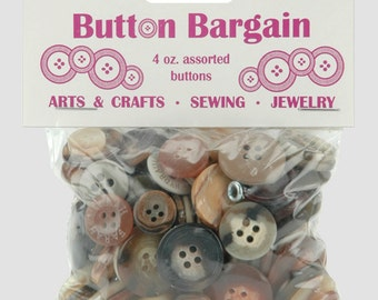Assorted Buttons - Natural